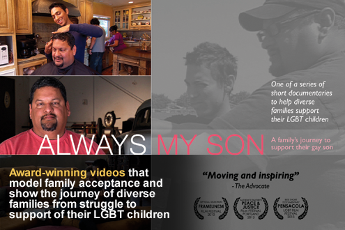 Image ad depicting Always my son a award-winning video